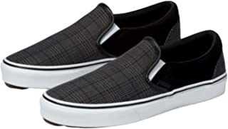 Vans Men's Suiting Classic Slip-On Skate Shoe (10.5 Women/9 Men, (Suiting) Black/True White)