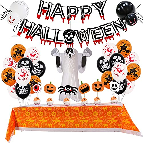 ZHANGJINYISHOP2016 Luftballons Halloween Halloween-Ballon für Flagge Farbe Papier Waben-Stereo-Ghost-Paket Halloween-Party-Dekoration Ballondekoration Haloween deko (Color : Pumpkin Outfits)