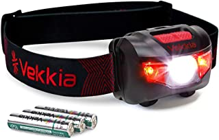 Best Ultra Bright CREE LED Headlamp - 200 Lumens, 5 Lighting Modes, White & Red LEDs, Adjustable Strap, IPX6 Water Resistant. Great For Running, Camping, Hiking & More. Batteries Included Review