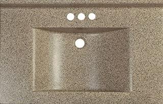 Imperial Marble Vanity Top Satin Stone Wave Bowl Series 37
