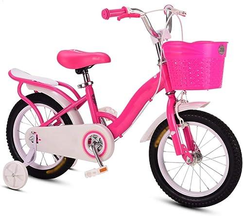 Bicicletas HAIZHEN Niños, para 2 3 4 niñas de 5 años, niñas de 12  14  16 con cestas y Asiento Trasero, Estilo Little Princess