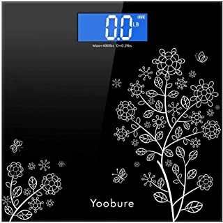 Weight Scale, Precision Digital Body Bathroom Scale with Step-On Technology, 6mm Tempered Glass Easy Read Backlit LCD Disp...