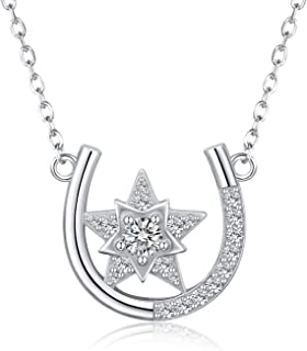 Horseshoe Necklace Sterling Silver: Good Luck Charm...