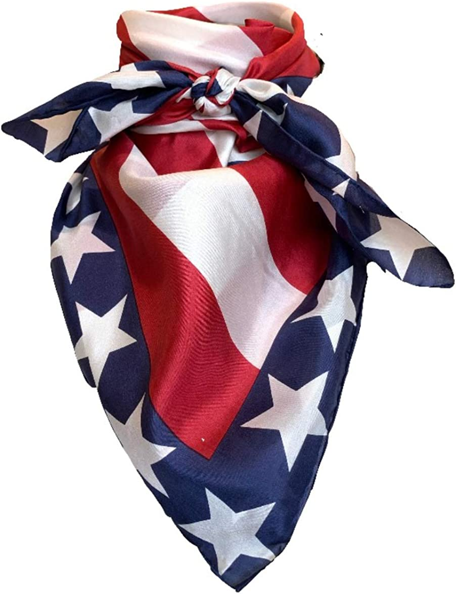 Wyoming Traders Wild Rag Liberty White Blue Red Americ Max 89% OFF Save money Patriotic