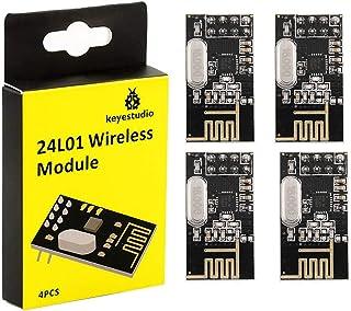 KEYESTUDIO NRF24l01 Module 2.4ghz Wireless Transceiver 4 PCS for Arduinos IDE