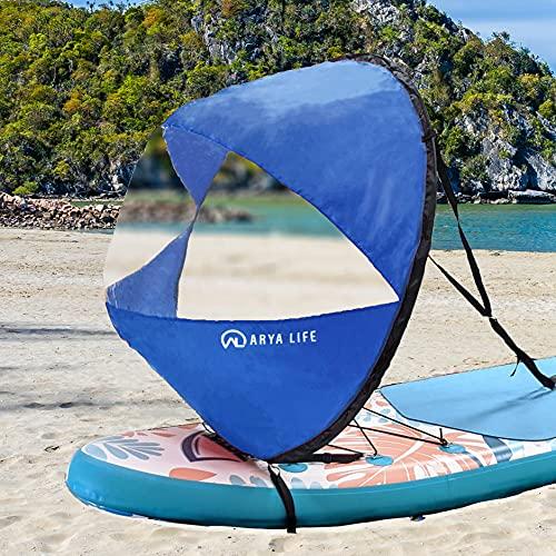 Arya Life 42 inches Downwind Wind Sail Kit Kayak Wind Sail Kayak Paddle Board...