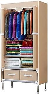 Penderies Chambre à Coucher Multipurpose Simple Combinaison Armoire Pliante de vêtements de Rangement Portable Armoire -po...