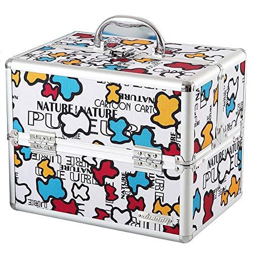 Shounadai Caja médica: aleación de aluminio + material de MDF, caja de almacenamiento de suministros médicos para el hogar, de diseño portátil, doble, portátil, de gran capacidad, a prueba de