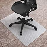 Kuyal Desk Chair Mat for Carpet, 30'' x 48'' Rectangle Transparent Mats for Chairs Good for Desks, Office and Home, Easy Glide, Protects Floors for Low and No Pile Carpeted Floors