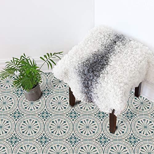 Prior.choice 3D Vintage Verde Autoadhesivo de despegar y Pegar Antideslizante Impermeable de PVC extraíble para baño, Cocina, decoración del hogar, Suelo de Pared, Escalera, Azulejos, 20 x 300 cm