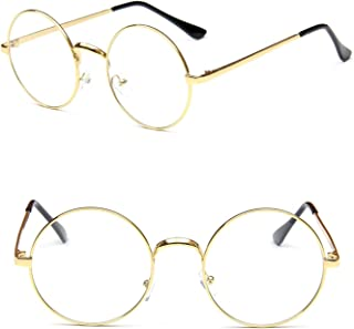 2b82caa726f Nuni Classic Metal Wire Frame Round Eyeglasses Small Size