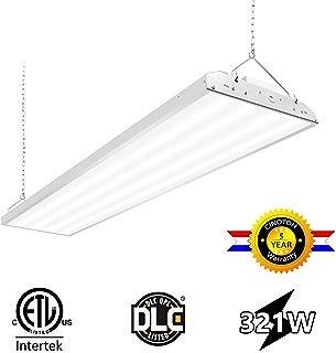CINOTON 4FT Linear LED High Bay Light, LED Shop Light Fixture 321W 41730lm 1-10V Dimmable 5000K [[800-1000W Fluorescent Equiv.]Motion Sensor Optional, Indoor Commercial Warehouse Area Light