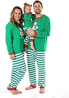 c74bf6a4b5e Baywell Ensemble Pyjama Noël Assortis Famille Mignon Ours Vêtements de Noël  Femme Homme Père Mère Enfants