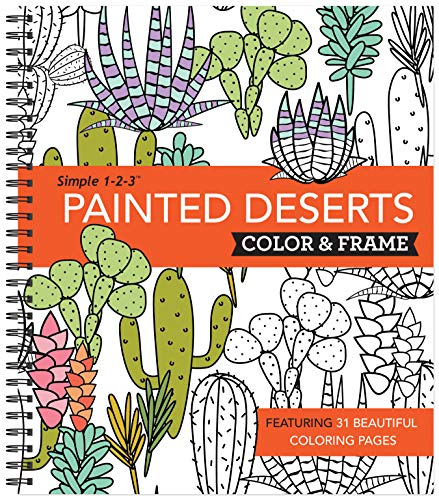 Color & Frame Coloring Book - Painted Deserts