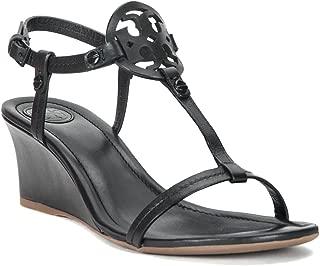 Black Miller Wedge Sandals