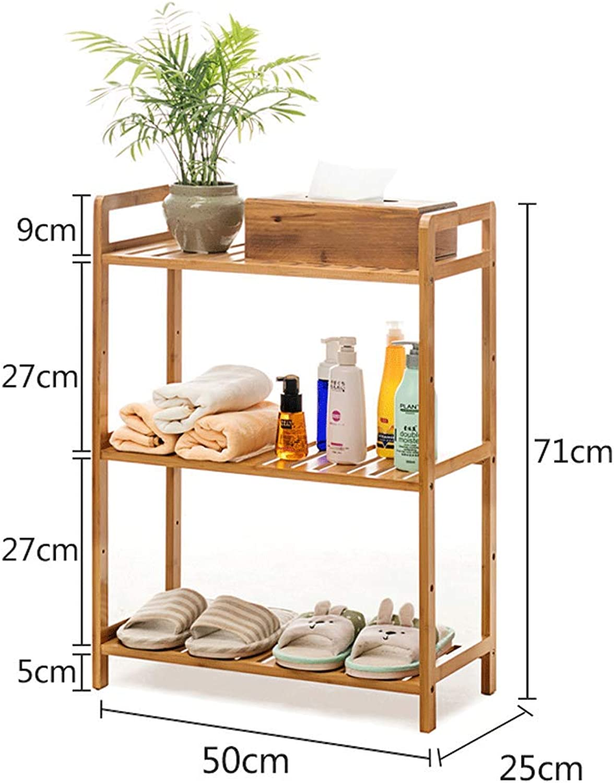 CCF Shelf Bathroom Bathroom WC Living Room Storage Rack Solid Wood Combination Multi-Layer Baffle Shelf CCFSF (color   50  25  71CM)
