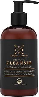 Organic Men's Face & Body Cleanser – Premium Moisturizing Cleanser For Dry, Sensitive Skin, Oily Acne Prone...