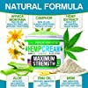 Instant Hemp Cream - Made in USA - Relieves Muscle, Foot, Shoulder, Joints and Back - Natural Hemp Oil Extract Gel with Msm - Glucosаminе - Arnica - Turmeric - 4oz #4
