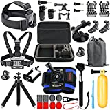 HAPY Sports Action Camera Accessory Kit for GoPro Hero7 8 Black,GoPro Max,Hero 7 6 5 4 3,Hero Session,GoPro Fusion,DBPOWER,AKASO,APEMAN,SJ CAM,Head Strap Camera Mount,Chest Mount Harness