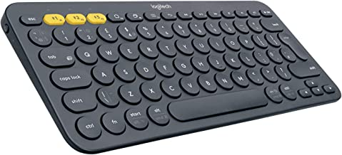 Logitech K380 Teclado Inalámbrico Multi-Dispositivos para Windows/Apple iOS/Android/Chrome, Bluetooth, Diseño Compacto, PC/Mac/Portátil/Smartphone/Tablet/Apple TV, Disposición QWERTY Español,  Negro