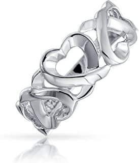 Huggies And Kisses Xo Open Heart Promise Band Ring For Teen For Girlfriend 925 Sterling Silver