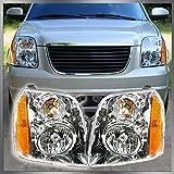 Headlights Headlamps Left & Right Pair Set of 2 for 07-13 GMC Yukon SUV