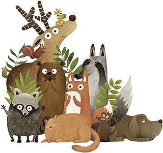 Forest Animals Elk Fox Rabbit Wall Stickers for Kids Room Children Wall Decal Nursery Bedroom Decor Poster Mural Art