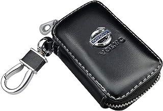 handgefertigt Fitracker Auto Schl/üsselanh/änger mit Logo schwarzes geflochtenes Lederband