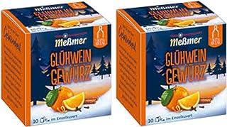 German Mulled Wine Spice Mix Gluhwein - Mulling Spices - 20 x 0.5Oz Sachets / 20 x 1.5g Sachets - Glühwein Gewürz by Meßme...