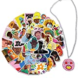 Kilmila Rapper Stickers 50Pcs (with Cherry Bombs Pendant Necklace) for Laptop Water Bottle Bike Car Motorcycle Bumper Luggage Skateboard Graffiti