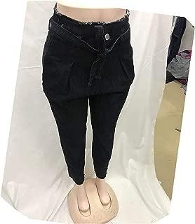 Surprise S Women High Waist Jeans Sexy Jeans Denim Pants Streetwear Loose Pants Black Jeans