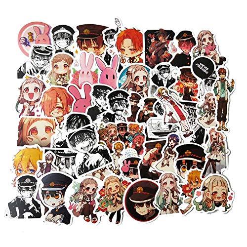 Toilet-gebonden Hanako-kun Anime Sticker Stickers Pvc Graffiti Stickers Koffer Bagage Gitaar Voor Kinderen Speelgoed 50 stks