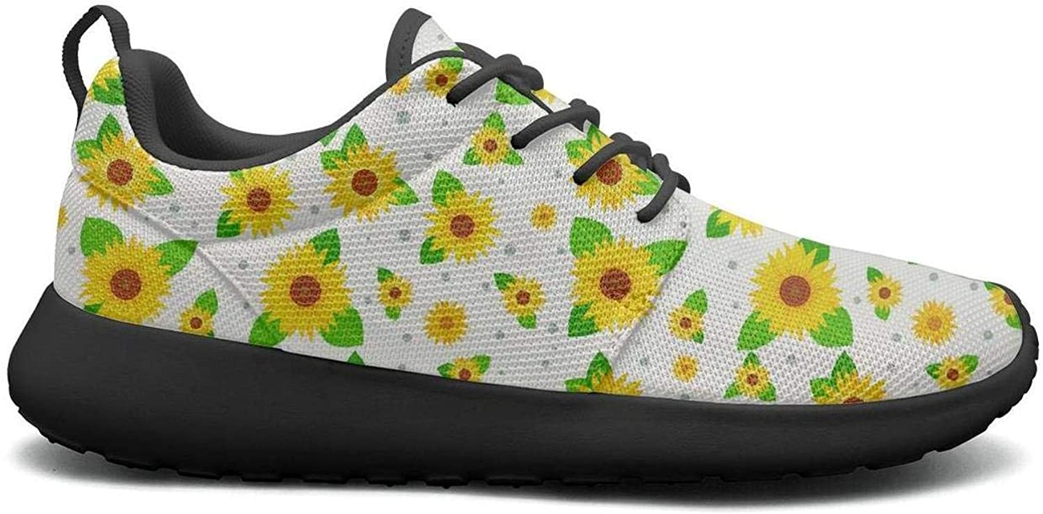 CHALi99 Fashion Womens Lightweight Mesh shoes Growing Sunflowers Sunflower Gifts Sneakers Travel Lace-Up