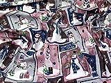 Stoff, Schneemann-Motiv, 100 % Baumwolle, Pink, Meterware