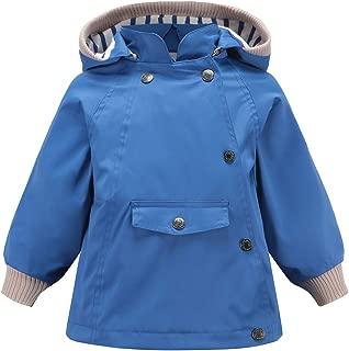 ACESTAR Waterproof Jackets for Toddler Boys Girls Rain Coat Windproof Windbreaker Outwear Raincoat