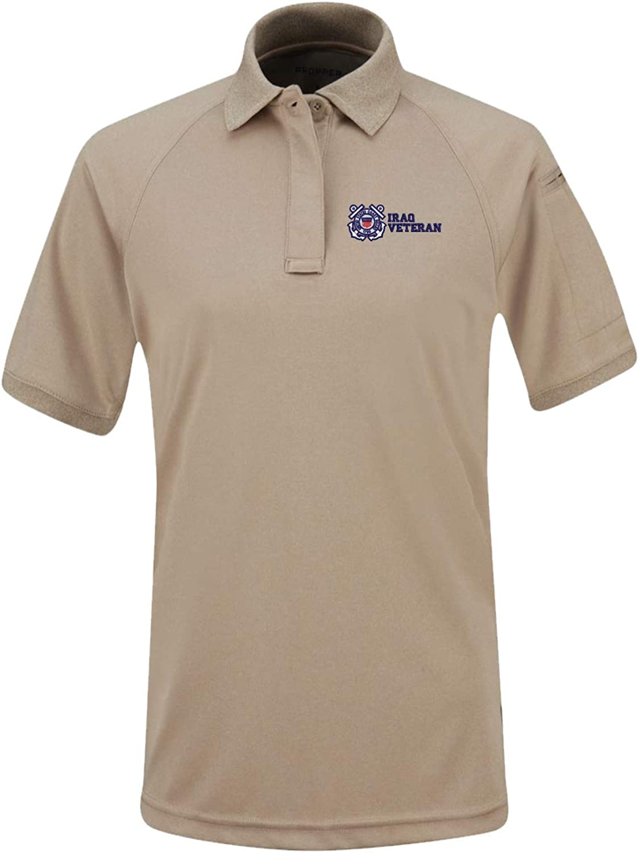 U.S. Coast Guard Iraq Veteran Womens Snag Free Tactical Polo Shirt