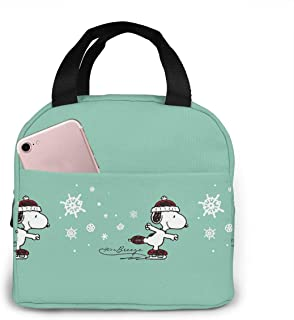 Lunch Bag Tote Skating Snoopy Lunchbox Insulated Lunch Cooler Box Meal Prep Containers For Woman Man Kids