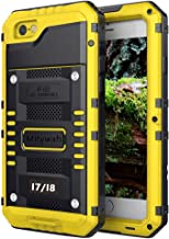 Mitywah Waterproof Case for iPhone 7, iPhone 8 Heavy Duty Military Grade Armor Metal Case, Full Body Protective Shockproof Dustproof Strong Rugged Thick Case for iPhone 7/8, Yellow