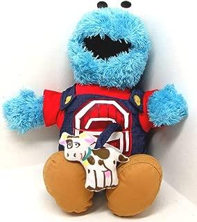 Sesame Street Singing Farmer Cookie Monster Plush Toy