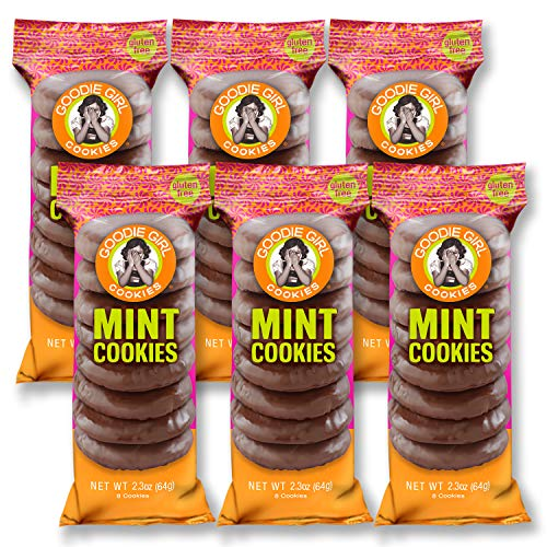 Goodie Girl, Mint Chocolate Cookies | Snack Packs | Gluten Free | Peanut Free | Egg Free | Kosher | 2oz Bags, Pack of 6