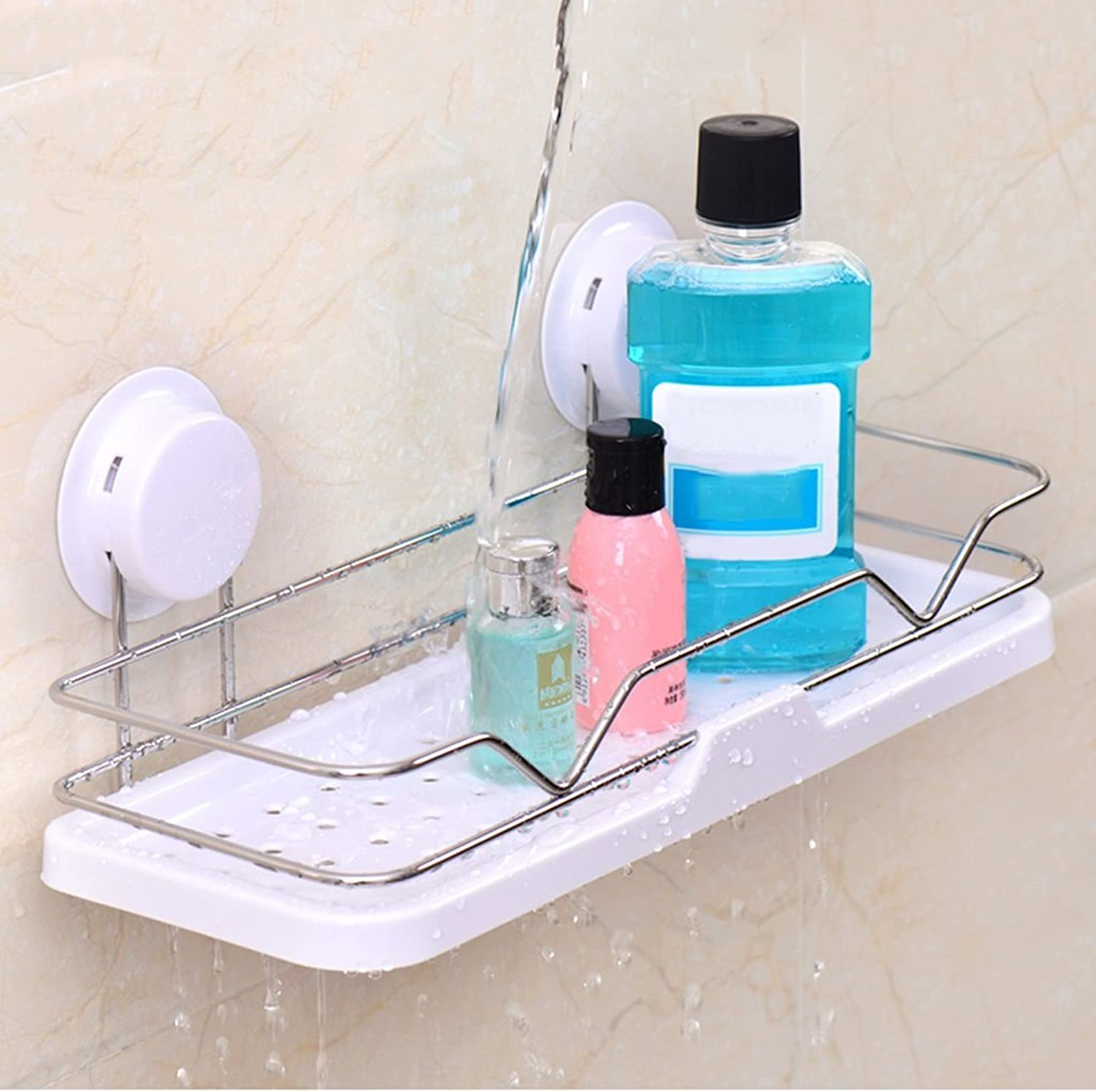 Bathroom rack Stainless steel bathroom racks, wall-mounted wash basin shelf, wall-free punch storage items Multifunction Home DecorationA+