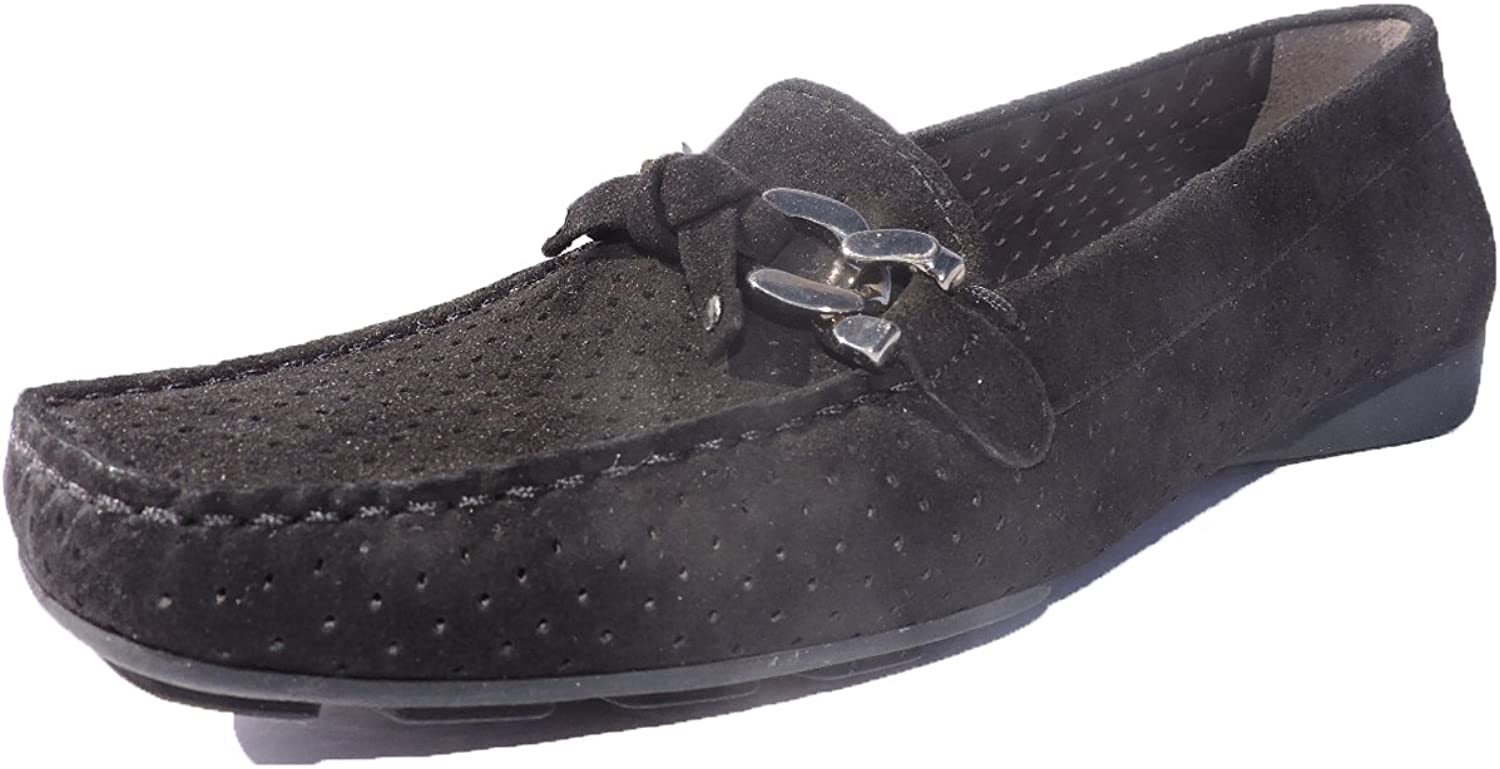 Stuart Weitzman Womens Lincoln Suede Loafers Black Flats, shoes Size 5.5 M