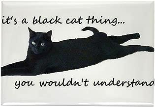 "CafePress Black Cat Thing Magnets Rectangle Magnet, 2""x3"" Refrigerator Magnet"