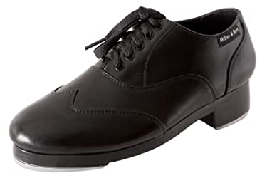 Miller & Ben Tap Shoes; Jazz-Tap Master; All Black Medium Width Tap Shoe