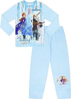Disney Frozen 2 Pyjamas 3 4 5 6 7 8 9 10 Years Olaf Anna Elsa Hans Sven w19 (4-5 Years)