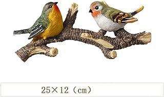 NA Creative Wall Hanger Craft 3D Stereo Resin Birds Hook Porch Coat Key Hook Rack Wall Hanging Ornaments Murals,1