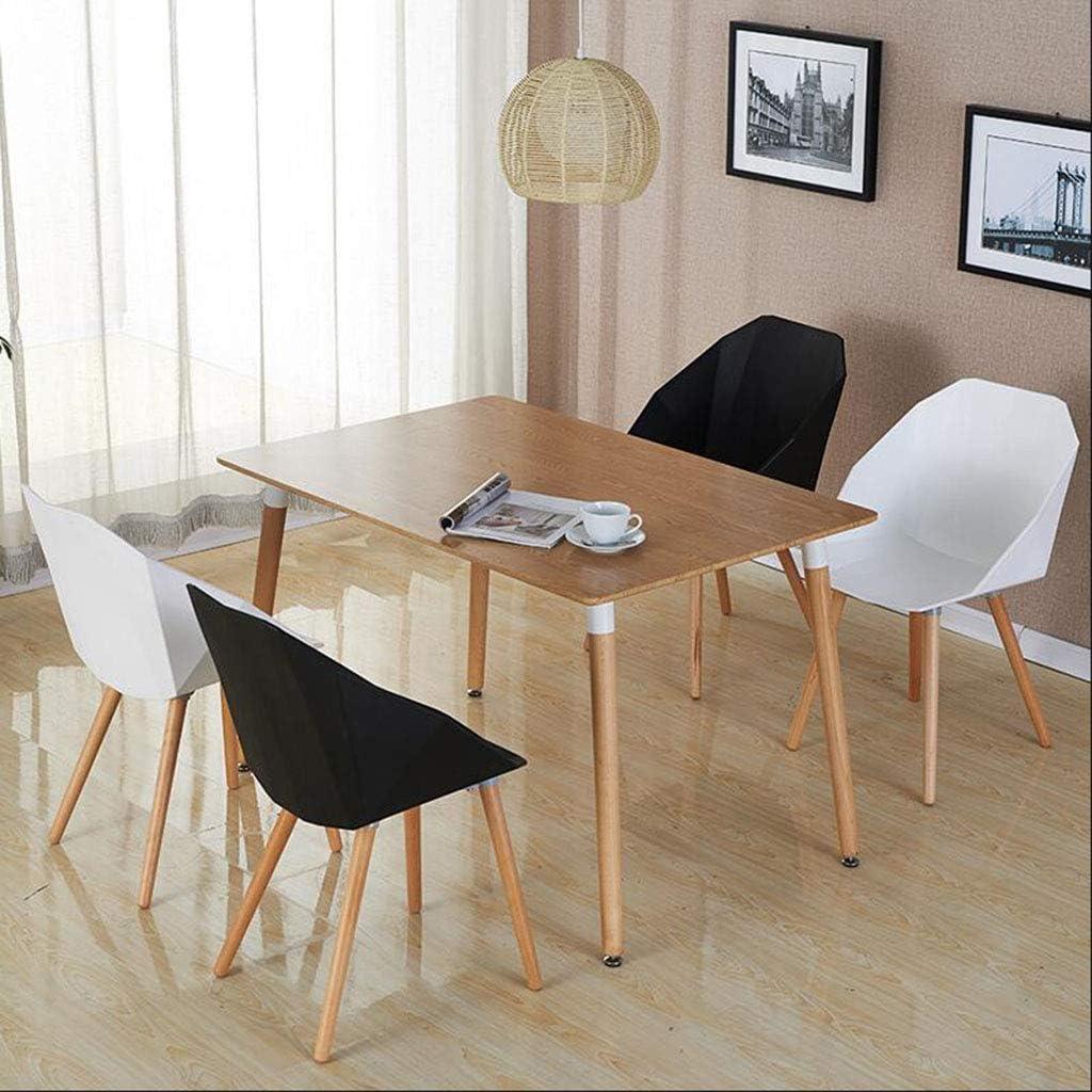 HURONG168 Chaises de cuisine Fauteuil dinant la chaise de loisirs créative en plastique simple café chaise de maison européenne siège lounge (Couleur : Blanc) Noir