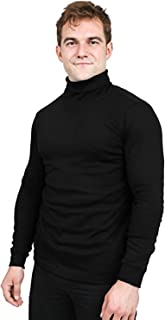 Sponsored Ad - Utopia Wear Premium Cotton Blend Interlock Turtleneck Men T-Shirt