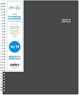 """$30 » Blue Sky 2022 Weekly & Monthly Planner, 8.5"""" x 11"""", Flexible Cover, Wirebound, Passages (100008-22)"""