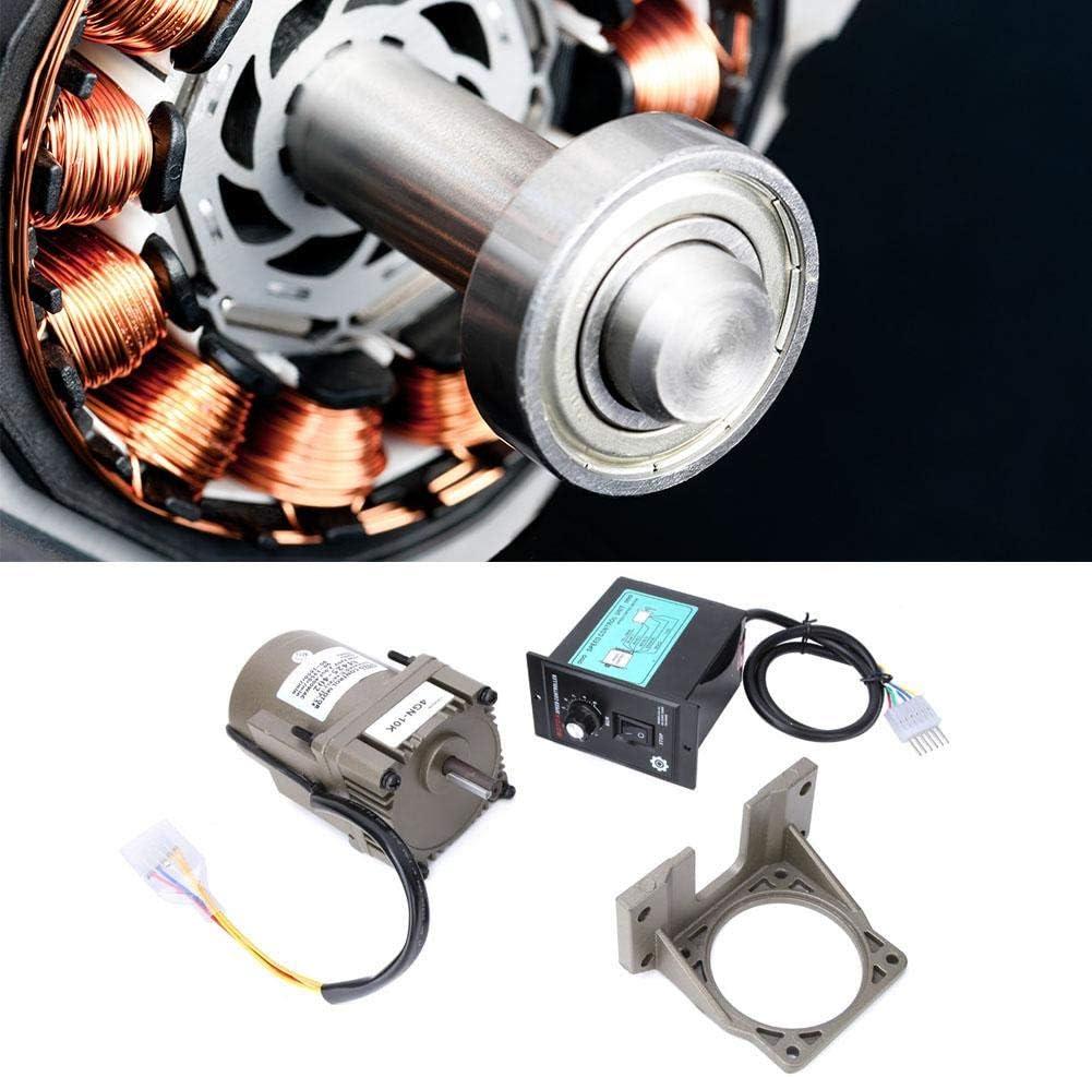 M425-402 AC220V 25W einstellbare Drehzahl umschaltbarer einphasiger Asynchron-Getriebemotor mit Getriebereglerhalterung f/ür F/örderanlagen Vikye Drehzahlregler Automobilindustrie usw. 10K